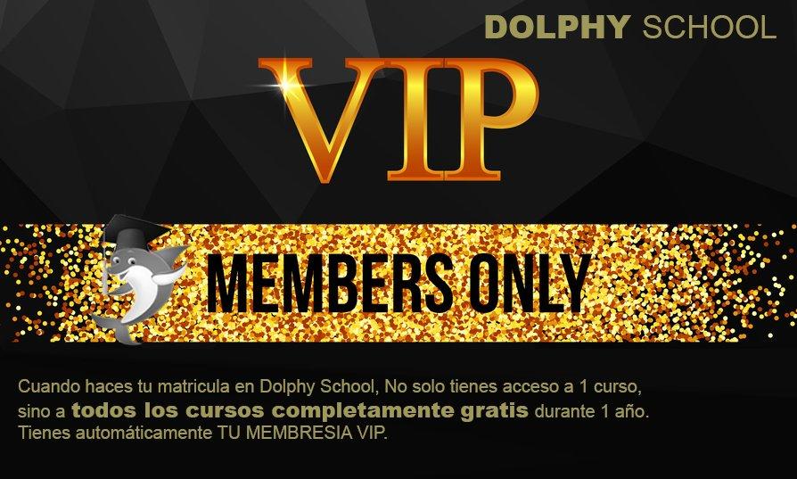 Membresía VIP con Dolphy School