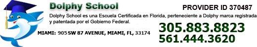 Escuela de Seguros en Miami Florida. Dolphy™ School. Nuestro Dolphin tiene nombre propio: Dolphy